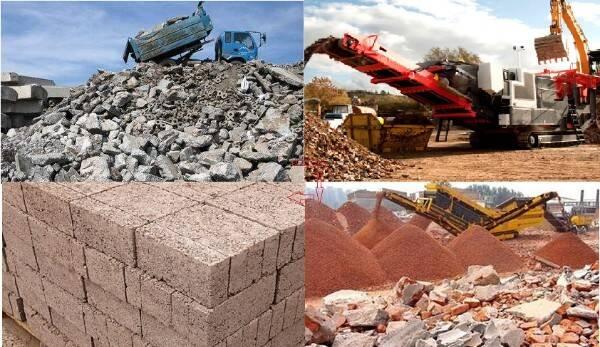建筑垃圾处理过程