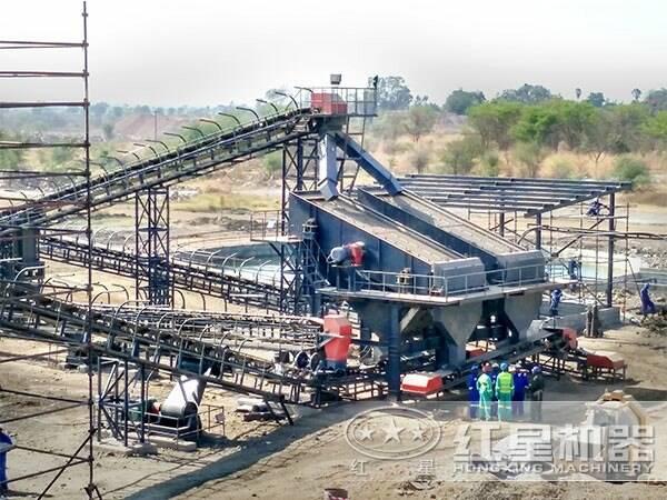 四川成都100吨机制砂石料生产线现场