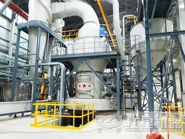 钠硝石磨粉生产线现场