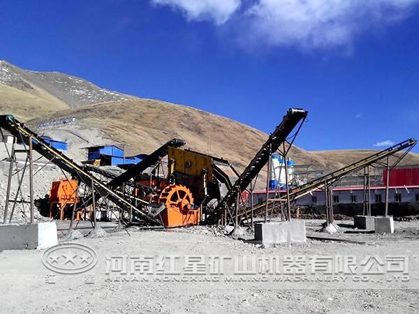 山西客户制砂生产线现场