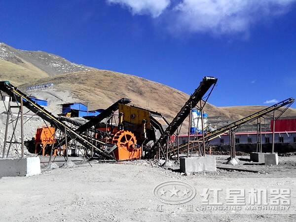 时产700-800吨花岗岩生产线工艺流程