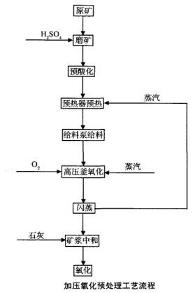 加压氧化预处理工艺流程