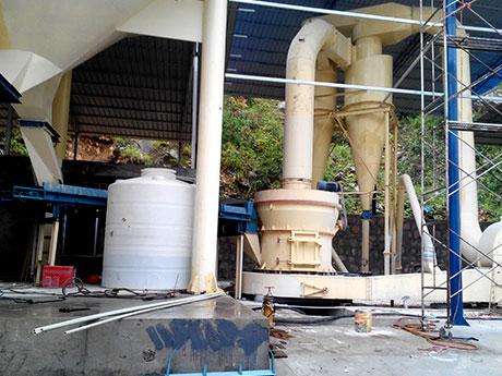 河北灵寿县50t/天蛭石磨粉生产线项目