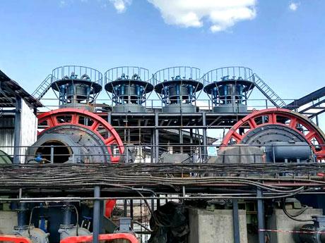 河南三门峡金矿选矿生产线现场