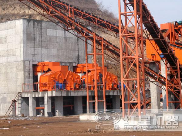 湖北宜昌花岗岩碎石生产线现场