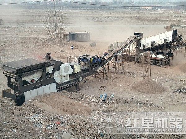 乌克兰鹅卵石破碎生产线项目