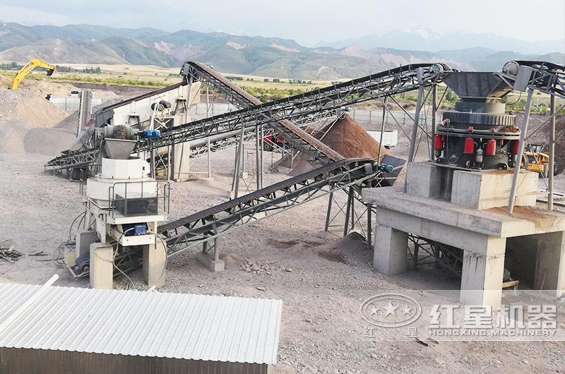 配制砂机的石料生产线