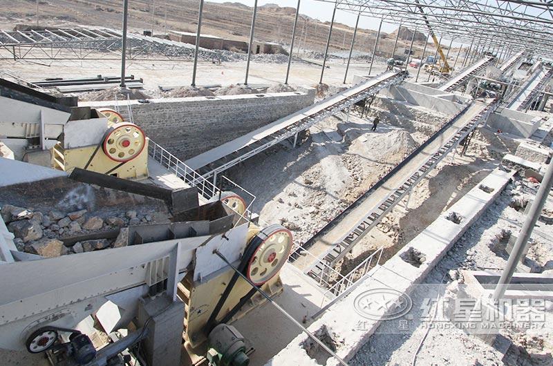 一小时300吨石头破碎生产线