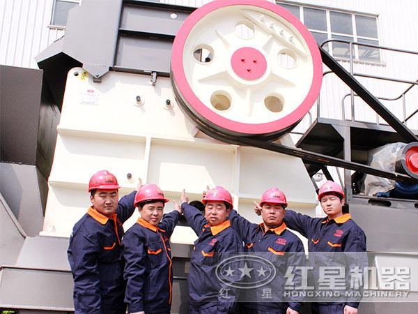120tph粉石头机扎实的技术服务团队