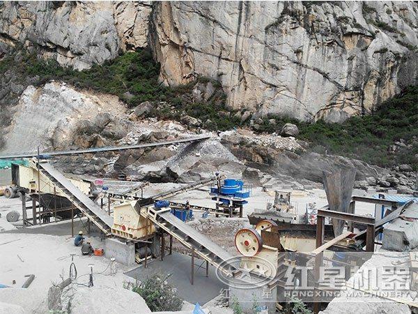 重庆一小时100吨05石粉制砂机用户现场
