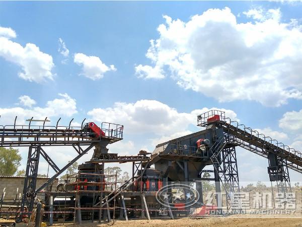 乌克兰一小时100吨05石粉制砂机客户现场
