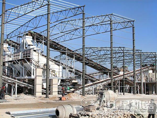 山东菏泽鹅卵石制砂项目工程2