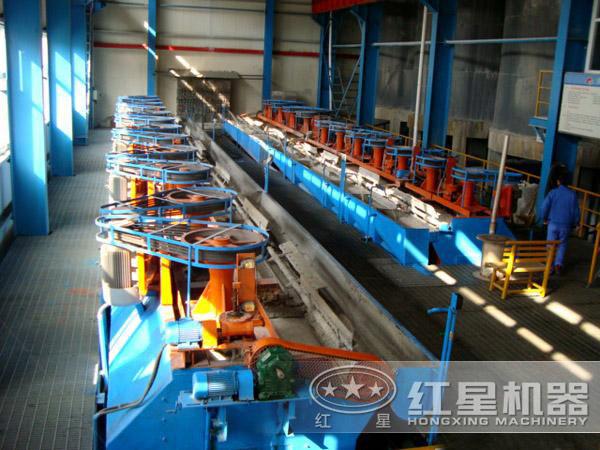 山西金矿浮选设备生产线现场:浮选机部分