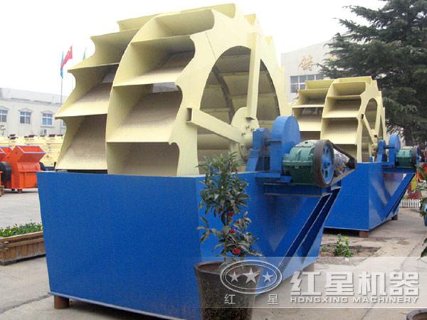 时产100吨-150吨的石沫水轮式洗砂机