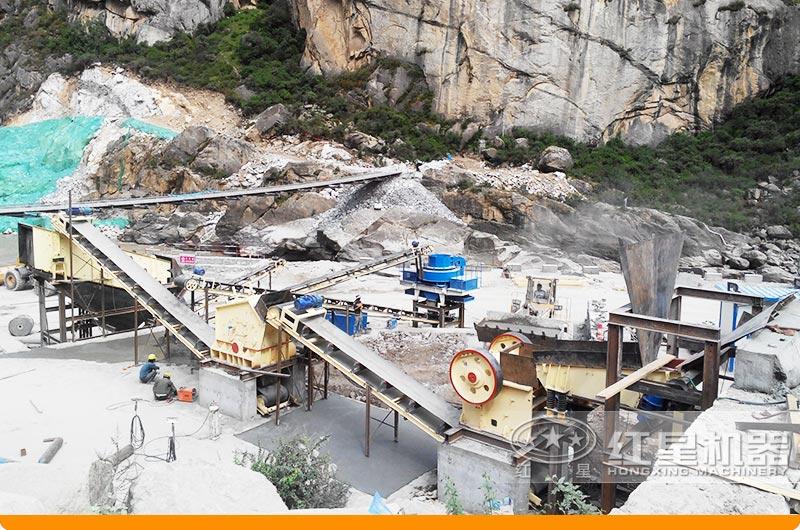 四川宜宾鹅卵石制砂项目现场
