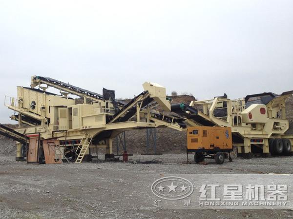 山东菏泽300t/h鹅卵石处理项目现场