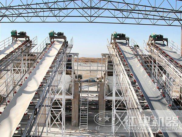 硅石制砂生产线现场图3