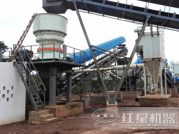 时产50吨-100吨矿石废料/边角料破碎现场一