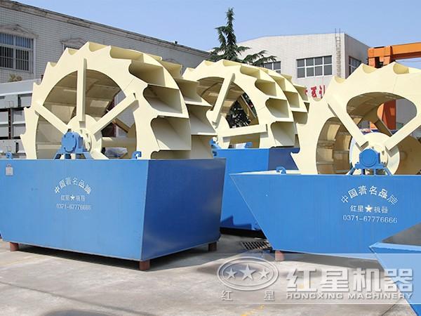 各种产量全自动水轮式洗砂机