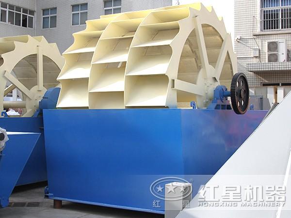 三轮全自动水轮式洗砂机
