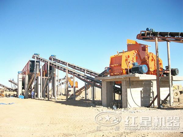 一天400吨河卵石制砂生产线方案一现场