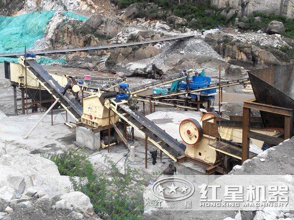一天400吨河卵石制砂生产线方案二现场