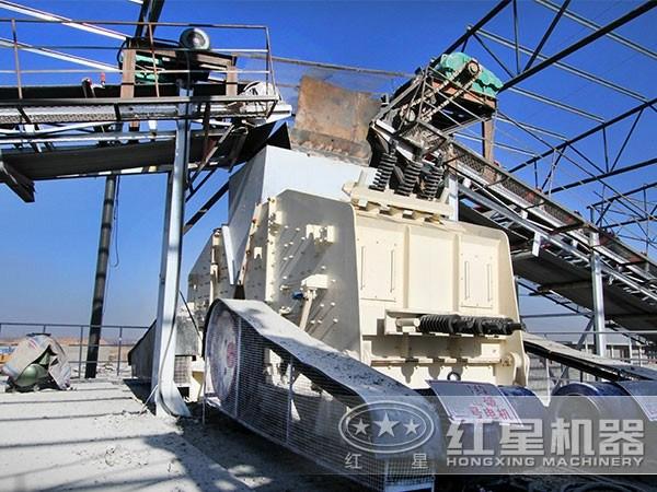 河南500t/h青石破碎生产线现场图2