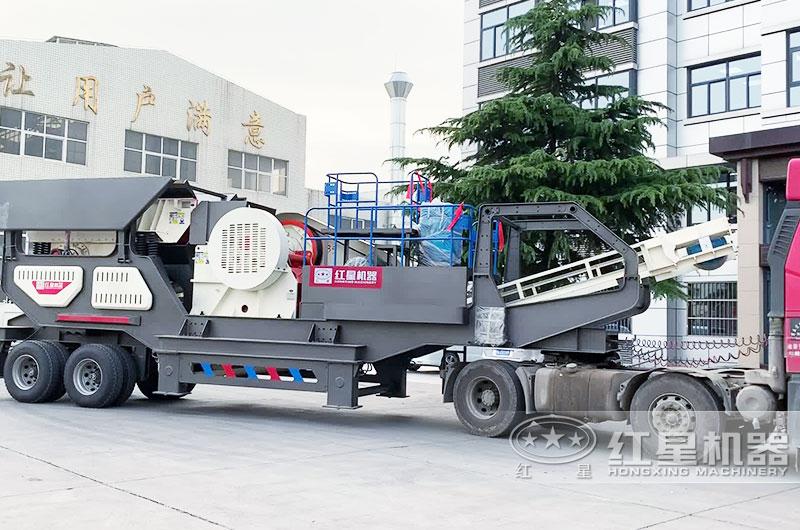 时产200吨移动制砂机