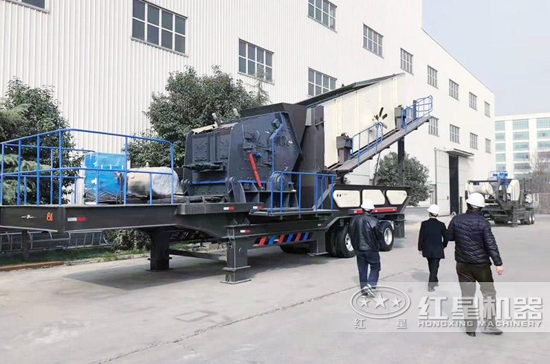 时产200-300吨青石移动磕石子机配反击破