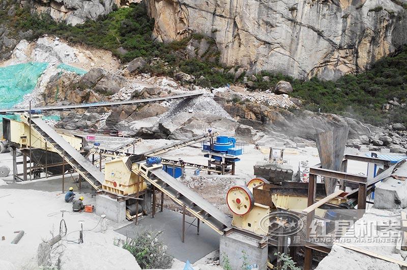 全封闭日产五万吨大型成套环保破碎石子生产线现场