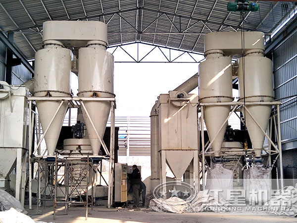 220目至325目石英粉加工生产线现场