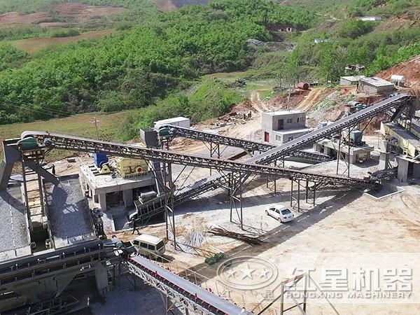 环保型干法机制砂生产线现场