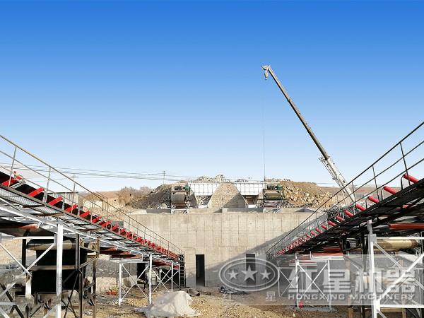 江西干法机制砂生产线现场2