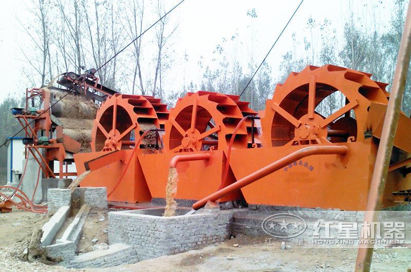 时产100吨沙子洗砂机工作现场