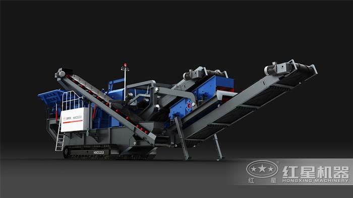 油电两用的移动碎石机,产量50-500t/h