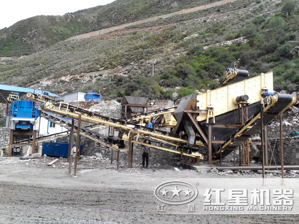 山东济南尾矿处理现场