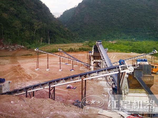 环保无尘化石料制砂生产线现场