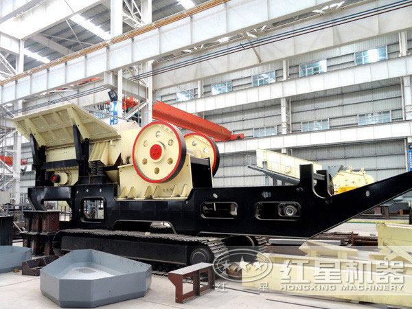 时产50吨混凝土块移动破碎站履带式