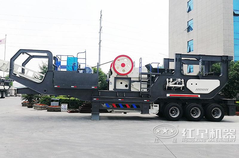 时产30-300吨流动式磕石子机