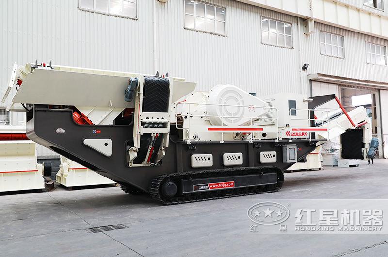 时产30-300吨流动式磕石子机履带式