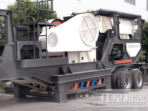 车载可移动式碎石子机:配颚破机
