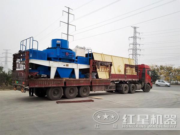 时产300吨的青石打砂机发货