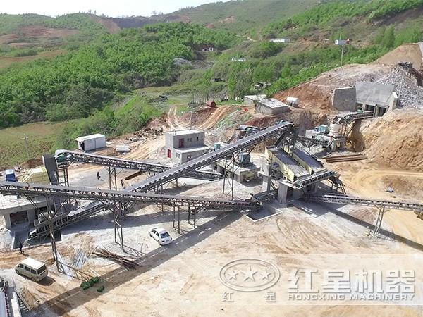 湖南环保石料制砂生产线现场