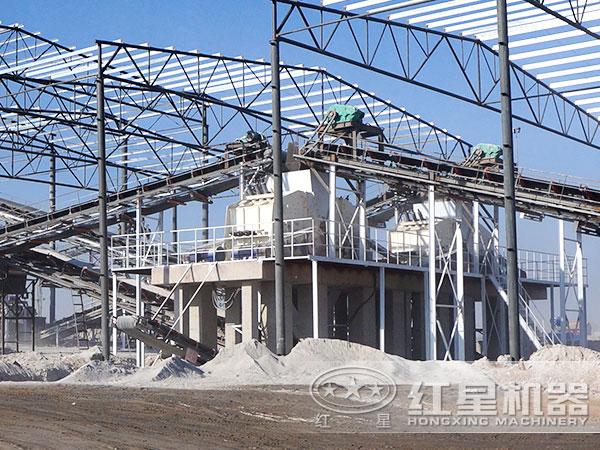 河北某大型环保节能制砂生产线现场2