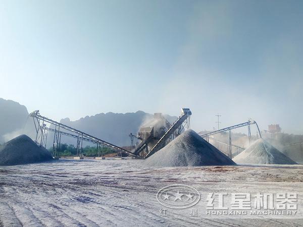 山西长治时产500吨青石制砂生产线项目2