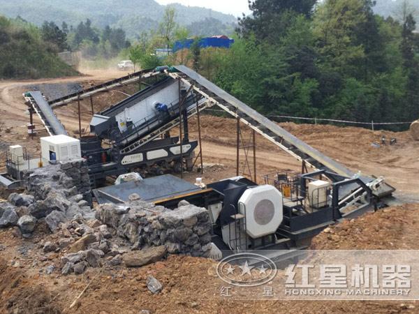应用于各种环境下的花岗岩移动碎石子机