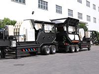 红星多台车载移动青石磨砂机在沙特扎根,深得用户满意