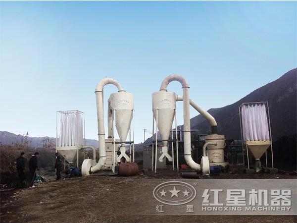硅石磨粉生产线现场