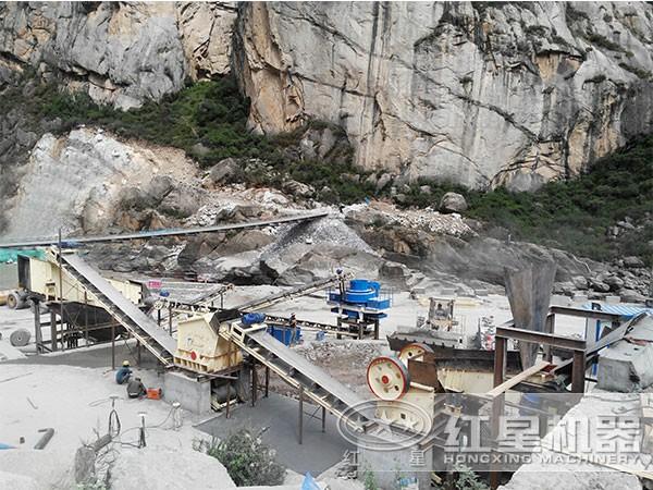 一小时200吨碎石生产线
