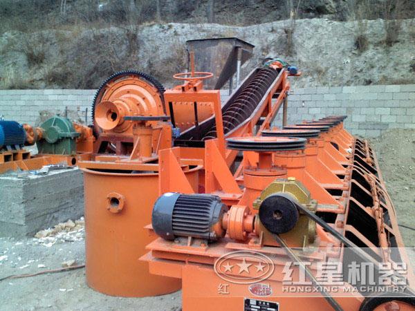 河北铅锌矿选矿生产线现场